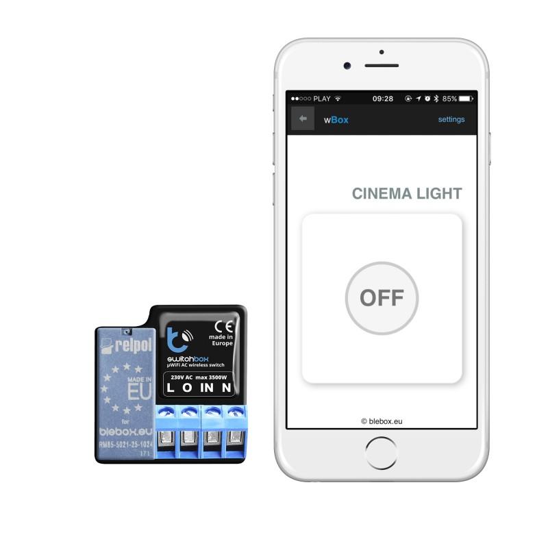 SwitchBox control para encender luces o aparatos electrónicos