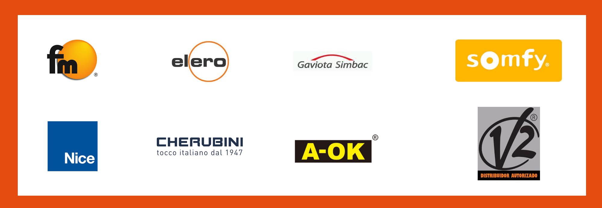 Logos de motores de persianas y toldos.